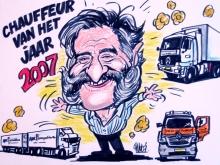 Chauffeur-van-het-jaar-karikatuur