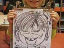 Karikatuur van kind