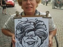 Portret gemaakt door karikatuurtekenaar