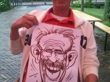 Snorremans getekend door karikaturist