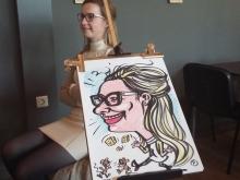 Mooie vrouw snelportret