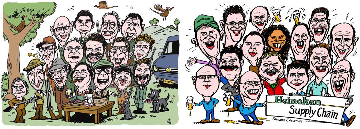 Karikatuur van foto